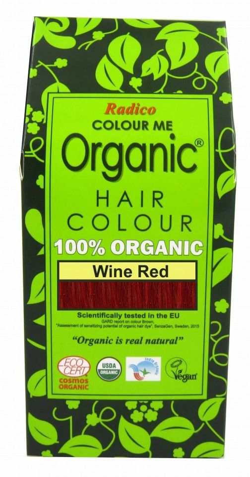 Natural Hair Dye - Wine Red - Radico