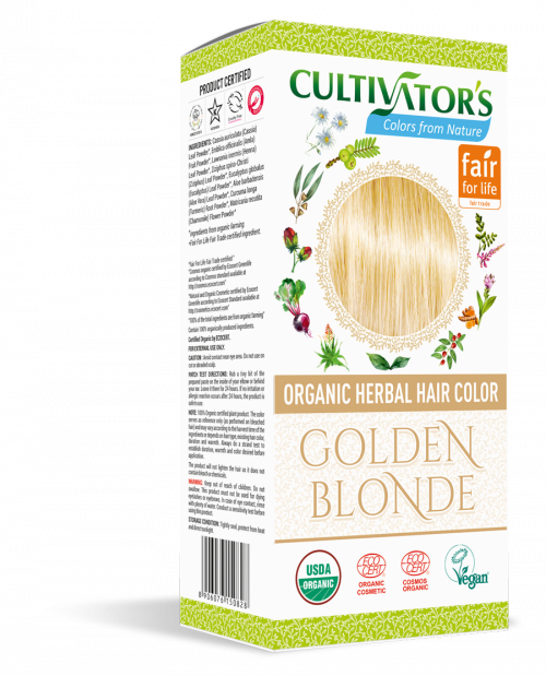 Organic Hair Color - Golden Blonde - Cultivator's