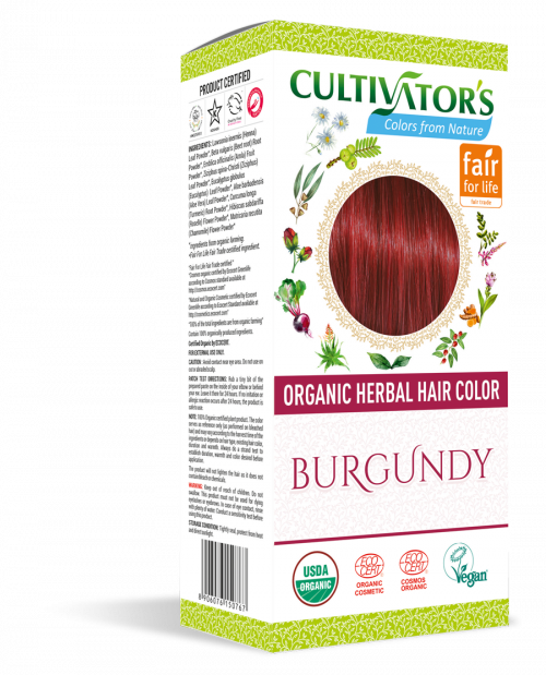Organic Hair Color- Burgundy - Cultivator's