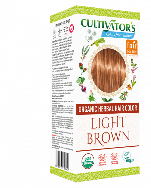 Organic Hair Color - Light Brown - Cultivator's