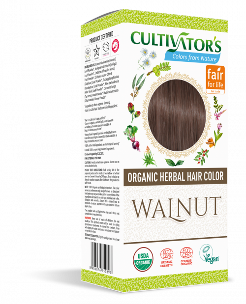 Organic Hair Color- Walnut - Cultivator's