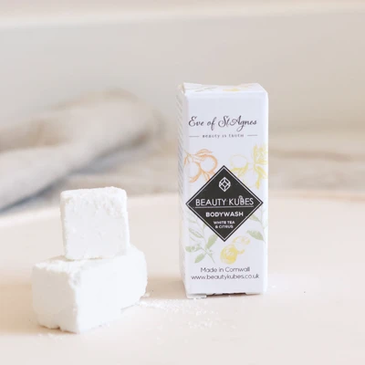 Sample Size Body Wash with White Tea and Citrus - Beauty Kubes